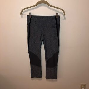 Gray & Black North Face Cropped Leggings